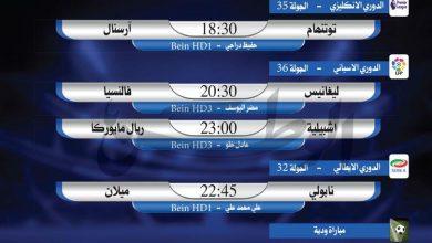 Photo of أبرز المباريات العالمية ليوم الأحد يوليو