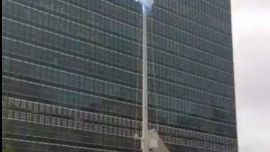 Photo of تنكيس علم الأمم المتحدة حداداً على سمو الأمير الراحل الشيخ صباح الأحمد
