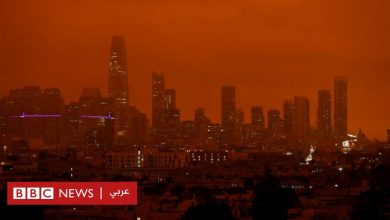 Photo of حرائق كاليفورنيا تحوّل لون السماء إلى البرتقالي