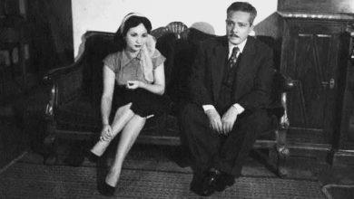 Photo of شادية في صورة نادرة مع والدها بخمسينيات القرن الماضي