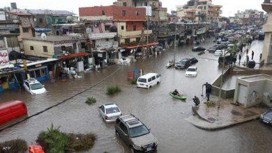 Photo of الأمطار الغزيرة تغرق شوارع العاصمة اللبنانية بيروت