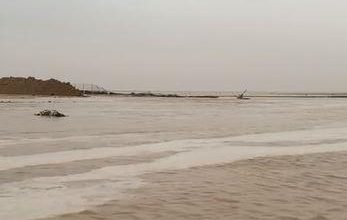 Photo of سيول اللياح شمال الكويت صباح اليوم الأحد