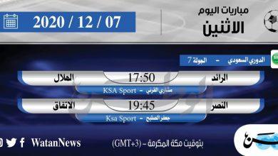 Photo of أبرز المباريات العربية ليوم الاثنين 7 ديسمبر 2020