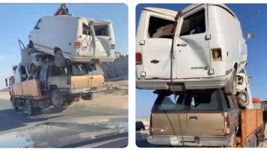 Photo of ضبط قائد شاحنة نقل المركبات بطريقة غير آمنة