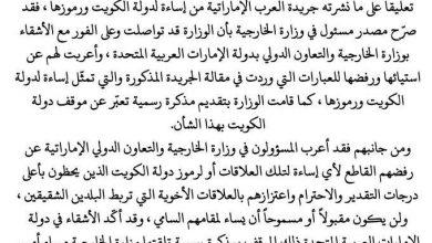 Photo of الخارجية تعرب عن استيائها ورفضها للإساءات لدولة الكويت ورموزها..