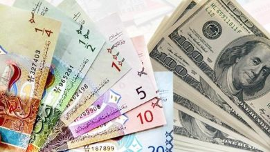 Photo of الدولار الأمريكي يستقر أمام الدينار عند 0,302 واليورو ينخفض إلى 0,366