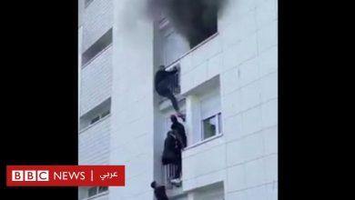 Photo of شبان مهاجرون يتسلقون بناية سكنية تحترق لإنقاذ أسرة من النيران بمدينة نانت الفرنسية