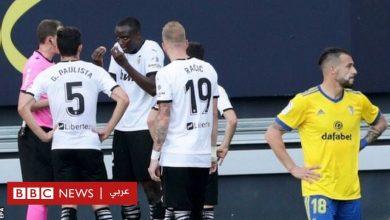 "Photo of الدوري الإسباني: فريق فالنسيا يغادر الملعب بعد ""توجيه إهانة عنصرية"" لأحد لاعبيه"