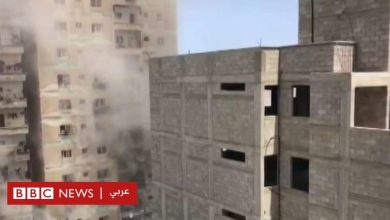 Photo of غارة جوية بالقرب من مكتب بي بي س في غزة