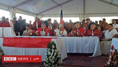 Photo of أول رئيسة وزراء في جزيرة ساموا تؤدي القسم في خيمة