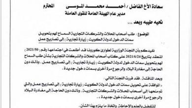 Photo of عودة المعلمين العالقين بكروت زيارة | جريدة الأنباء