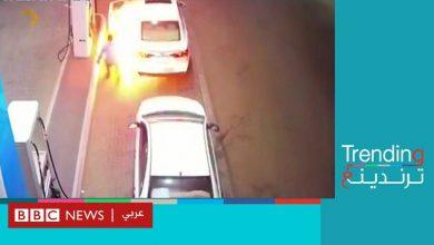 Photo of سقوط سيجارة من سائق يتسبب في حريق بمحطة وقود في السعودية