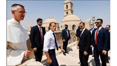 Photo of ماكرون يزور معالم الموصل المدمرة