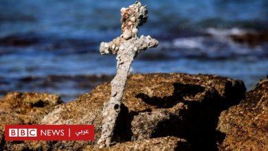 Photo of العثور على سيف من بقايا الحملات الصليبية قرب ساحل حيفا